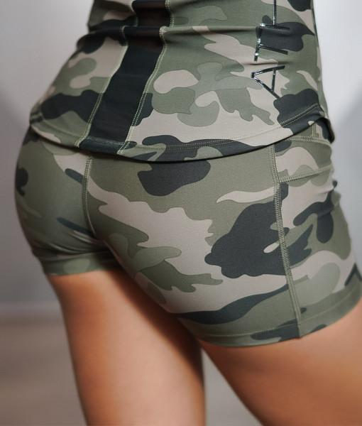 Body Engineers Lotus Army Shorts