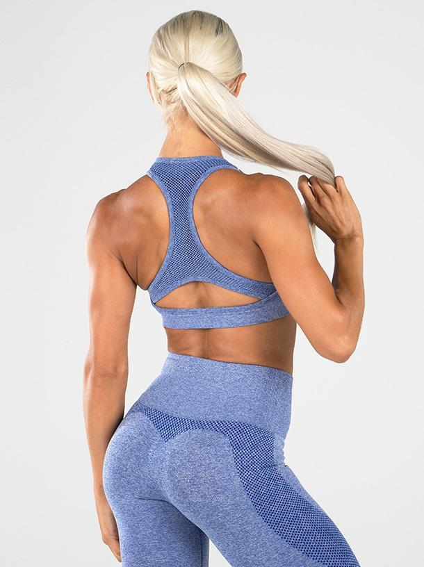 10% OFF Ryderwear Seamless Sports Bra - Blue Marle