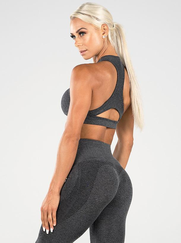 Ryderwear Seamless Sports Bra - Charcoal Marle