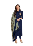 Vardan Kanishka Suits with Embroidery Work With bottom And Dupatta