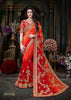 Indian New Latest Heavy Jari Embroidery Work With Lace Border Wedding Saree