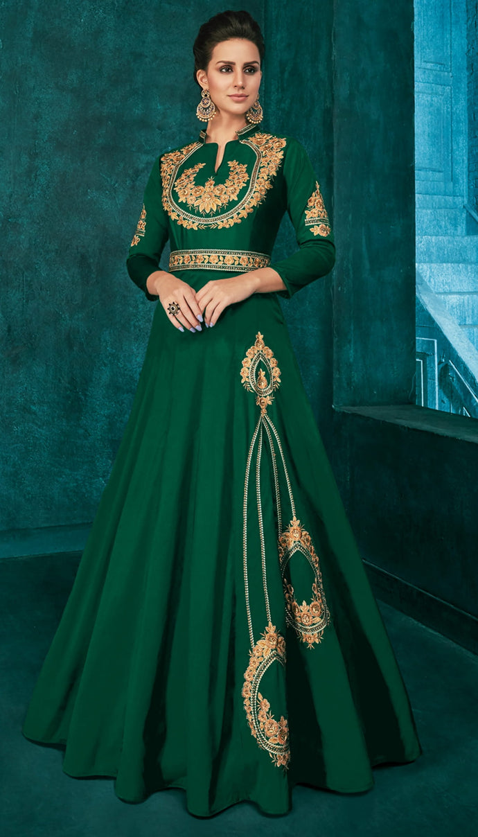 Vardan Rozi Gold Designer Suits With Classy Embroidery Work