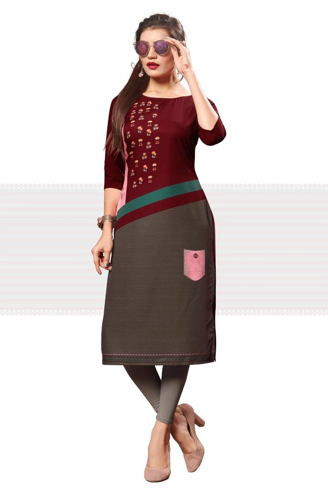 Load image into Gallery viewer, Crepe kurti Wholesaler