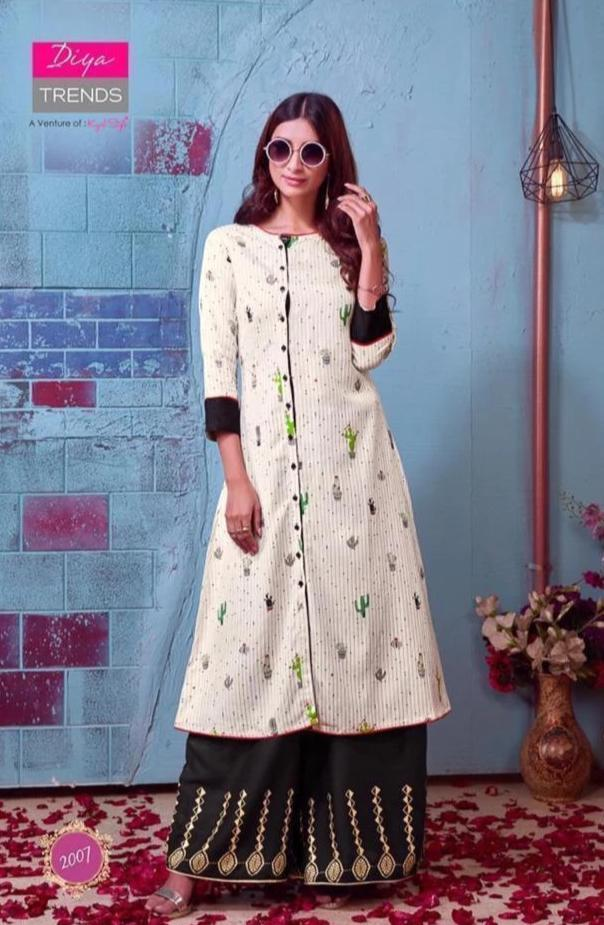 Diya Trends by Kajal Style Design 4 Heavy Rayon Kurti With Palazzo