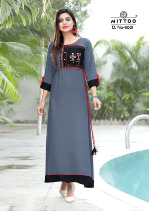Mittoo Winter Collection Heavy Rayon New Designer Long Kurtis