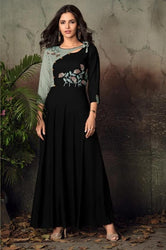 Vardan Gulnaz 2A Heavy Reyon Designer Long Gown Kurtis With Embroidery Work