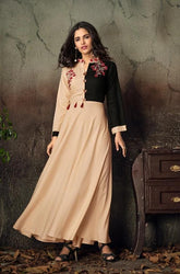Vardan Gulnaz 2B Heavy Reyon Designer Long Gown Kurtis With Embroidery Work