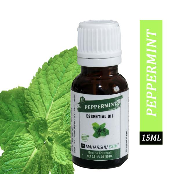 Nature Peppermint Essential Oil 100% Undiluted Pure and Natural Therapeutic grade for Hair Growth, Skin, Face, Cold, Congestion, Pain & Diffuser