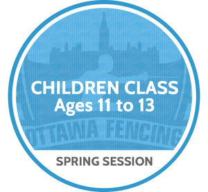 Children Class (Ages 11 to 13) - Spring Session