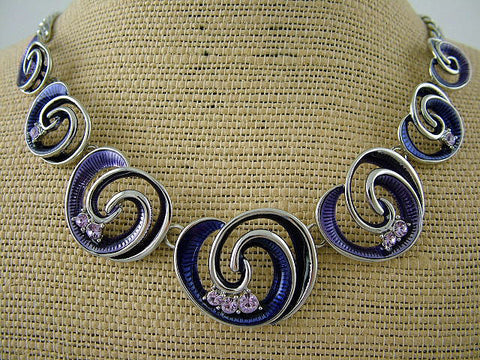 Purple Koru Beads Necklace