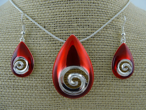 Red Koru Drop Set