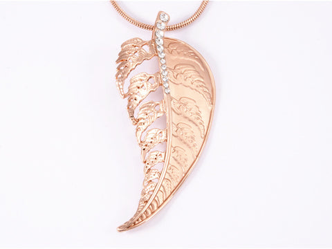 Rose Gold Fern Necklace