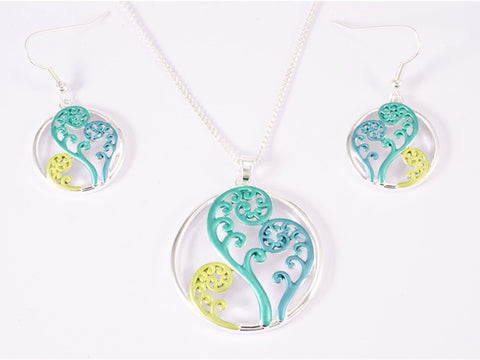 Green & Yellow Koru Filigree Set
