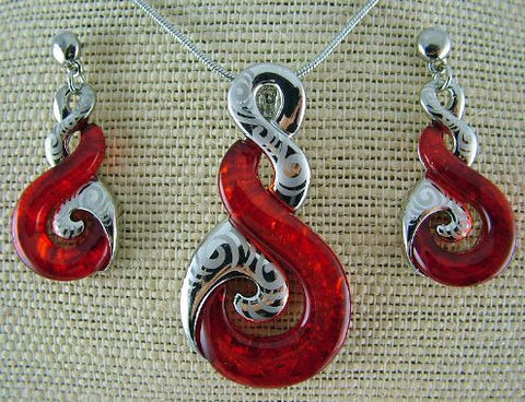 Unique Red Triple Twist Set