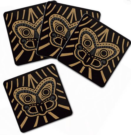 Coaster Set - Gold Tiki
