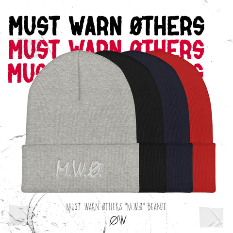 "Choirboy Dank & Blockhead Must Warn Øthers - ""MWØ"" Cuffed Beanie"
