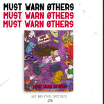 "Choirboy Dank & Blockhead - ""Must Warn Øthers"" Tall Canvas"