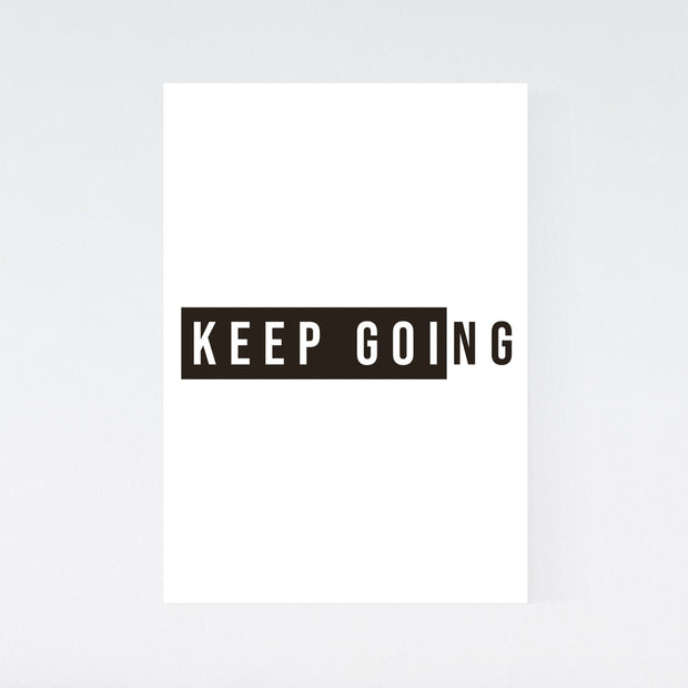 Keep Going - Motivation Poster - DIN A4 Hochformat - Mille Sanders