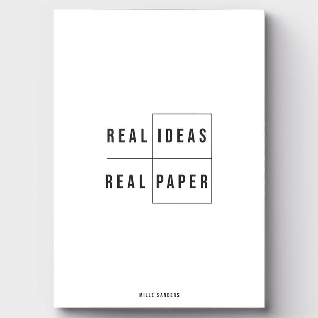 Notizheft - DIN A6 blanko | REAL IDEAS | REAL PAPER - Mille Sanders