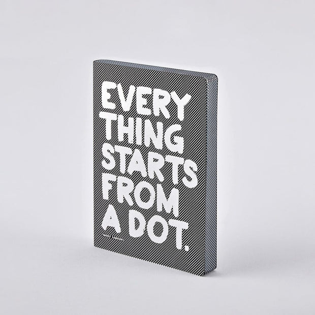 Nuuna Notizbuch Graphic L - EVERYTHING STARTS FROM A DOT - Mille Sanders