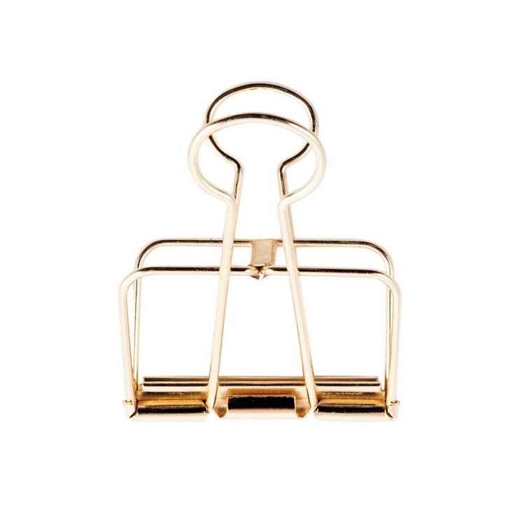 Wire Clip 3er Set 32mm in Gold - Mille Sanders