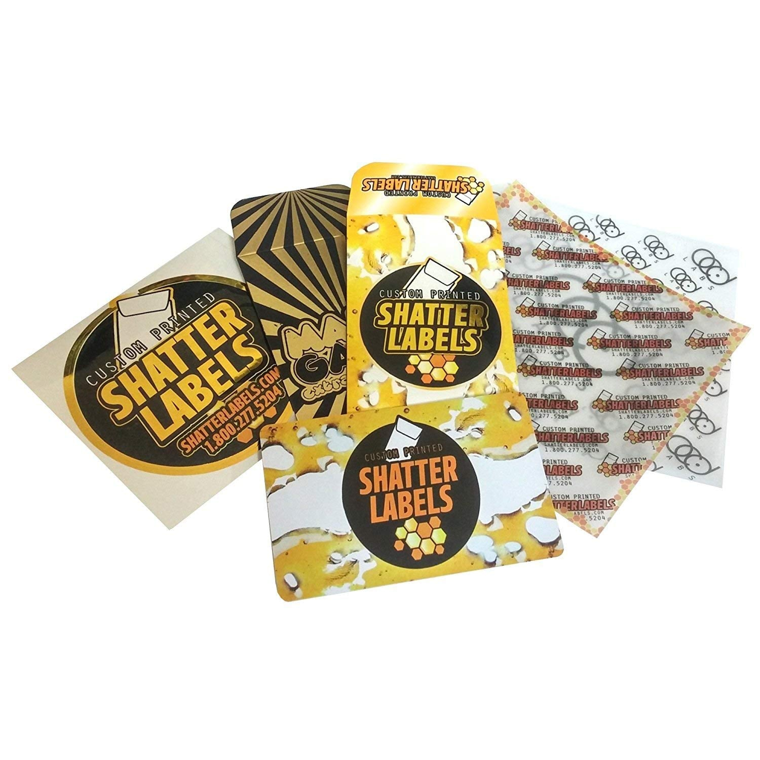 Skybuster Oil Empty Extra Slim Distillate Packaging Boxes by Shatter Labels  VB-029