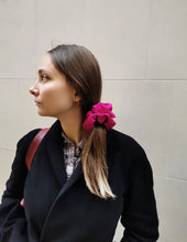 Load image into Gallery viewer, Fuchsia Satin scrunchie