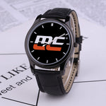 MotorCrush® MC Classic Leather Band Watch