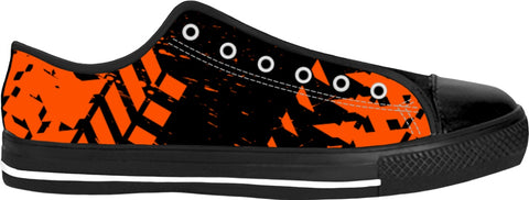 Orange Tire Track Low Tops