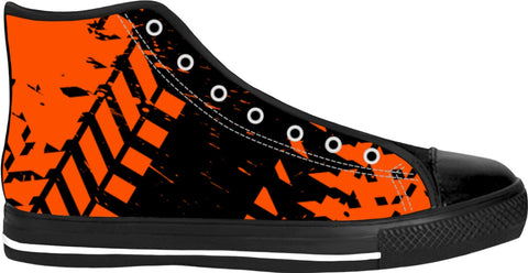 Orange Tire Track High Tops
