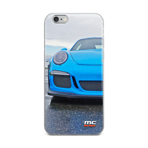 Blue GT3 RS iPhone Case