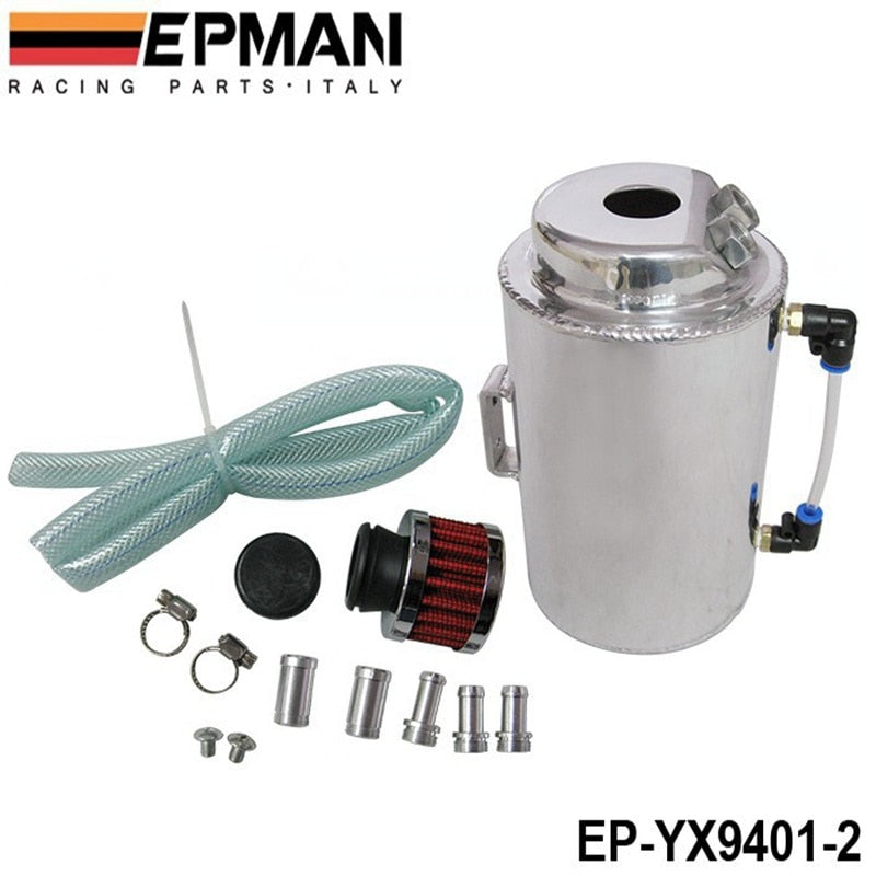 UNIVERSAL 2L ALUMINIUM ALLOY OIL CATCH CAN WITH BREATHER FILTER