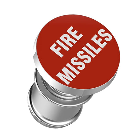 """FIRE MISSILES"" Button Cigarette Lighter"