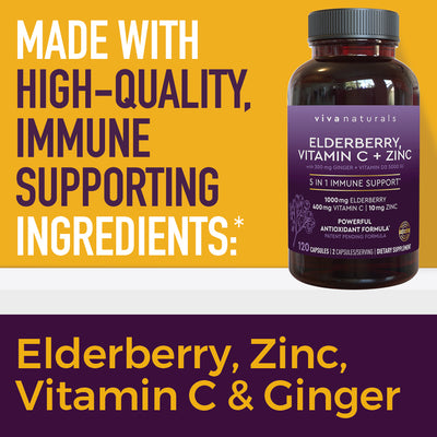 Elderberry + Vitamin C + Zinc