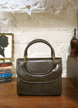 load image into gallery viewer, new amsterdam bag - glossy brown