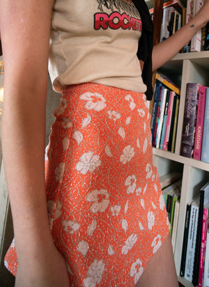 load image into gallery viewer, chelsea skirt - lurex floral