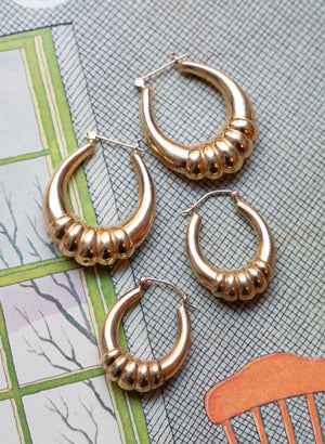 load image into gallery viewer, gold hoops 13