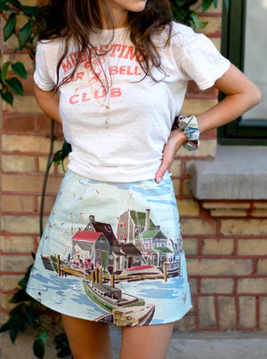 load image into gallery viewer, chelsea skirt - port scene