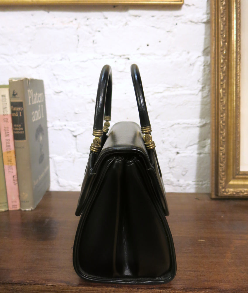 load image into gallery viewer, new amsterdam bag - smooth black