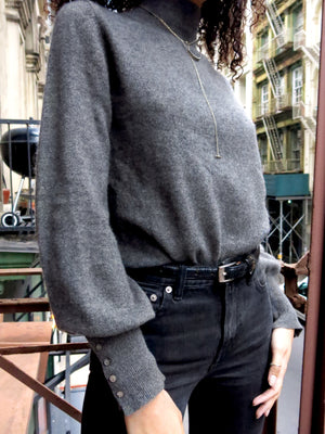 paris sweater - charcoal