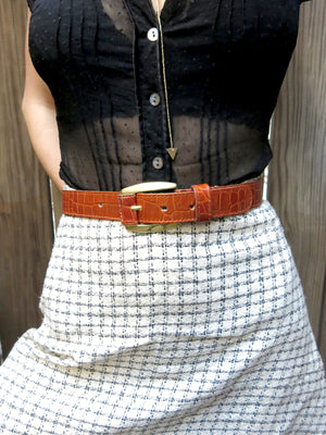 load image into gallery viewer, croc belt 20 - s