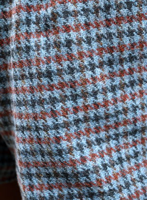 load image into gallery viewer, amsterdam shorts - blue houndstooth