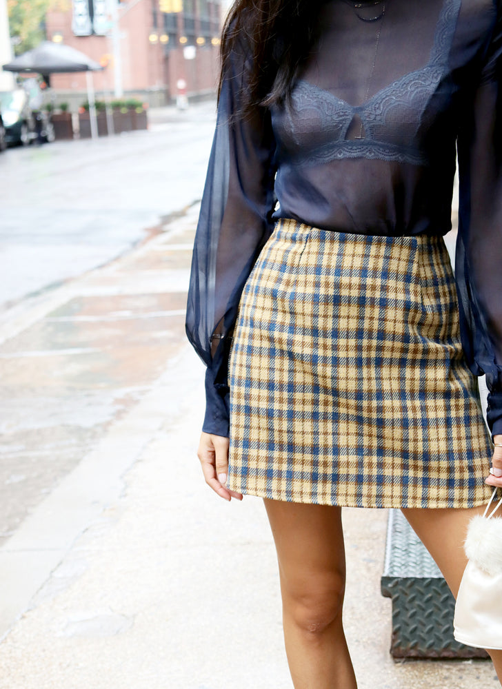 chelsea skirt - clueless tweed