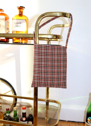load image into gallery viewer, paris bag - red houndstooth