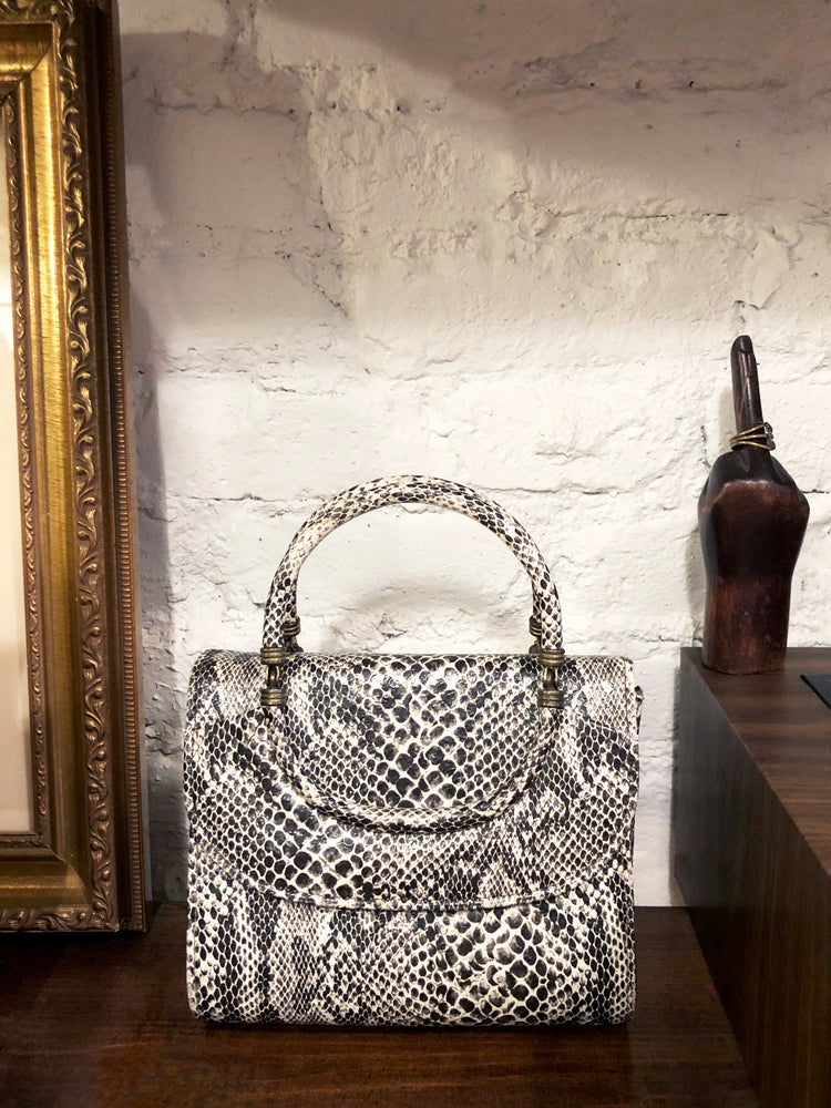 load image into gallery viewer, new amsterdam bag - snakeskin