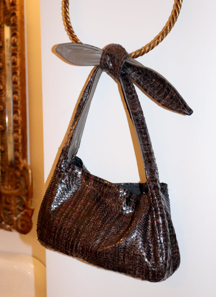 west village bag - brown snakeskin