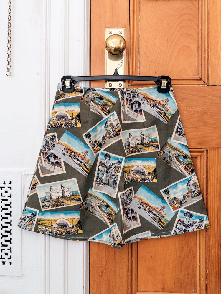 load image into gallery viewer, chelsea skirt - olive postcard