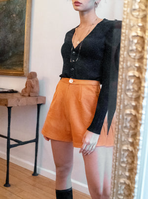 amsterdam shorts - apricot leather
