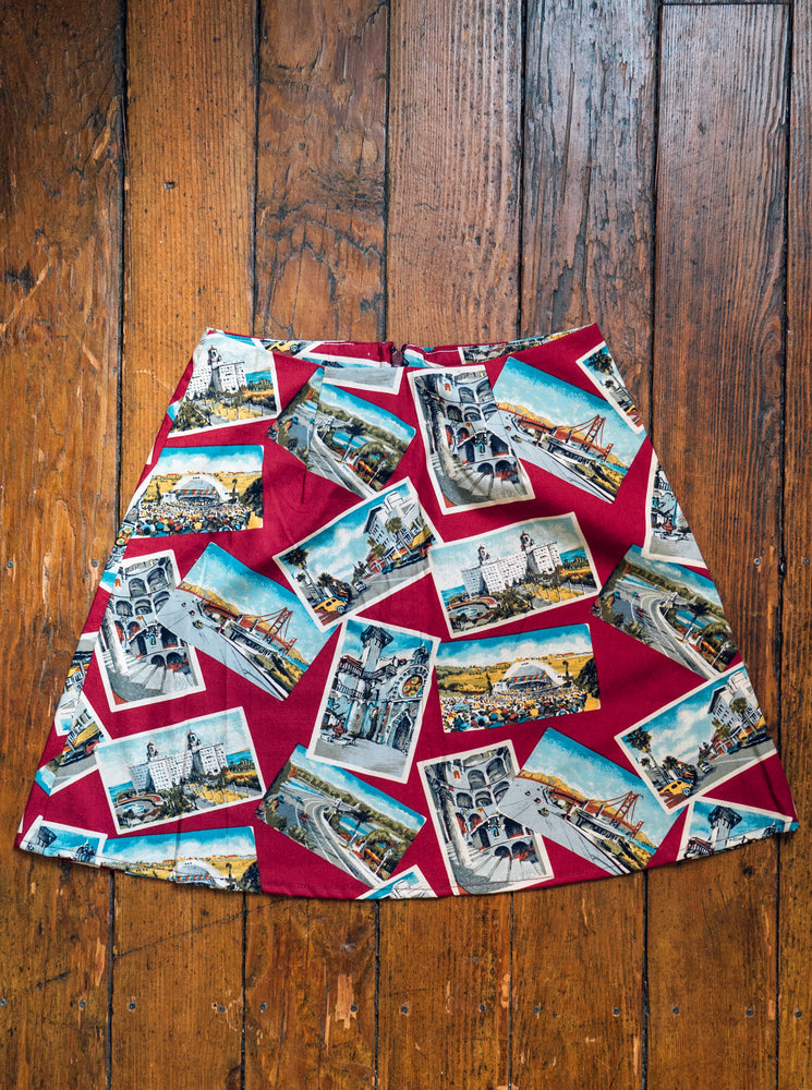 load image into gallery viewer, chelsea skirt - red postcard