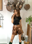 amsterdam shorts - rust leather